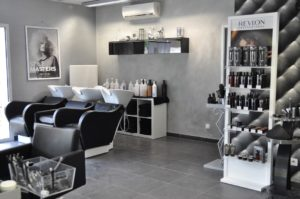 Vue des bacs salon Envisage coiffure